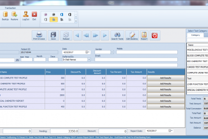 IT VISION, Itvision.com.pk, Medical Laboratory Management, Test Booking System, Multiple test record management, Test Booking